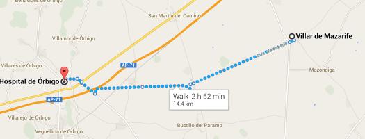 Day 2 Villar de Mazarife to Orbigo