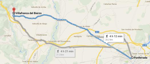Day 7 Ponferrada to Villafranca del Bierzo, 20km